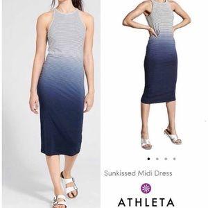 Athleta Sunkissed Midi Dress- Blue Ombré